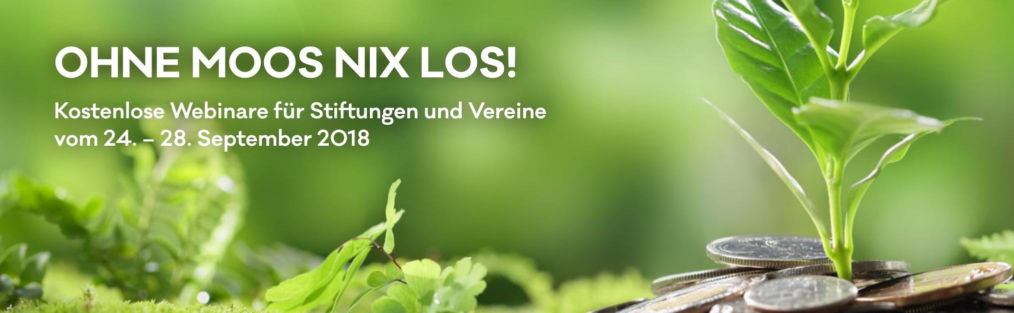 Kostenlose Webinare auf der Online-Stiftungswoche 24. - 28. September 2018